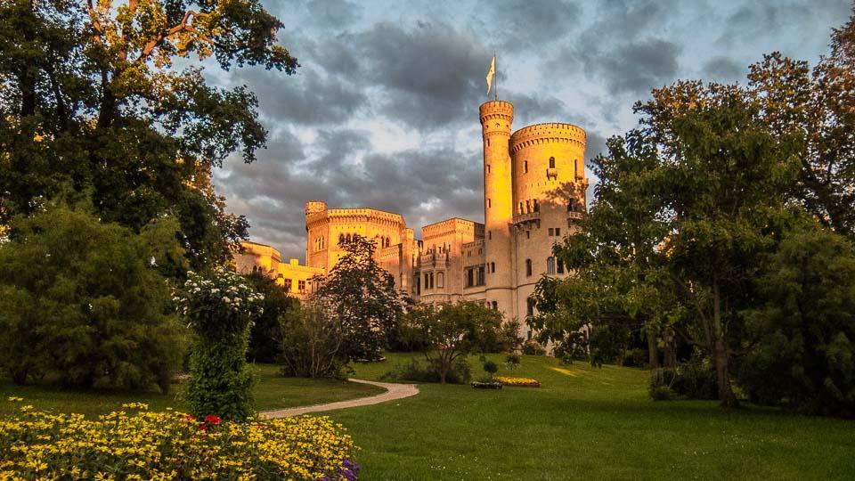 Palace Babelsberg park