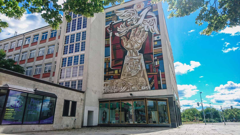 Mosaic Iron Hut City Germany Socialist Planned City