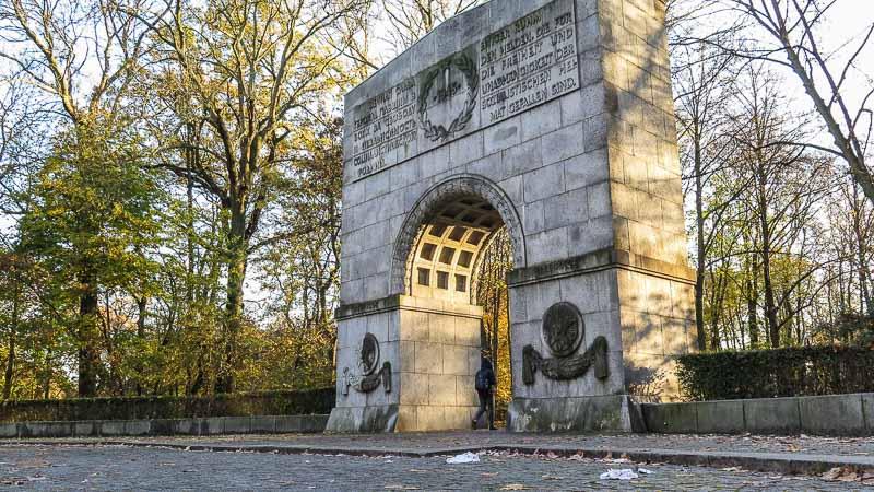 Soviet War memorial Berlin portal